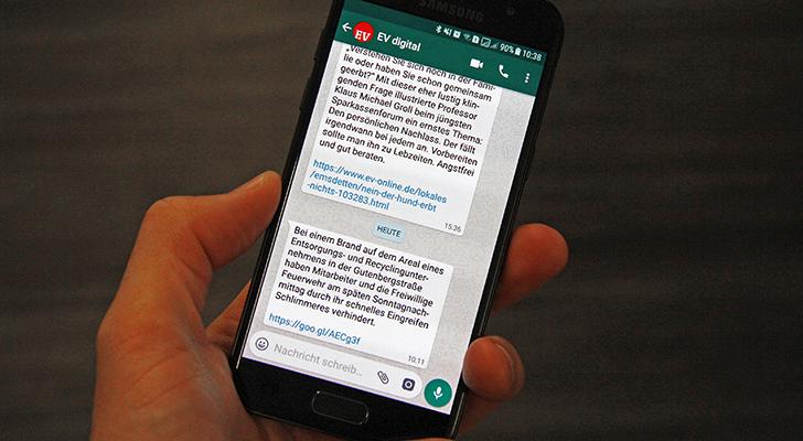 erhalten sie ab sofort die wichtigsten nachrichten aus emsdetten und umgebung direkt auf ihr smartphone per whatsapp